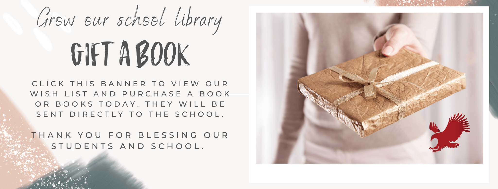 Gift a Book - website library page