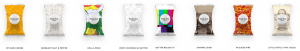 Double Good Popcorn - graphic of Multiple Flavors from their catalog