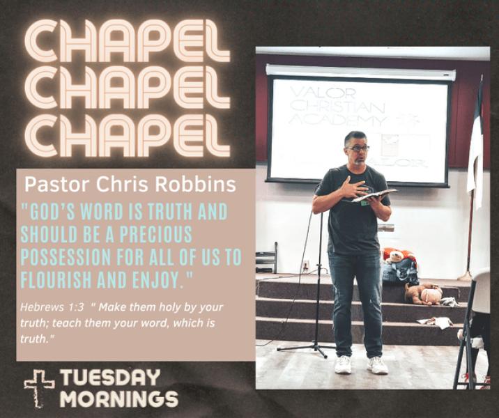 Chapel Speaker Chris Robbins