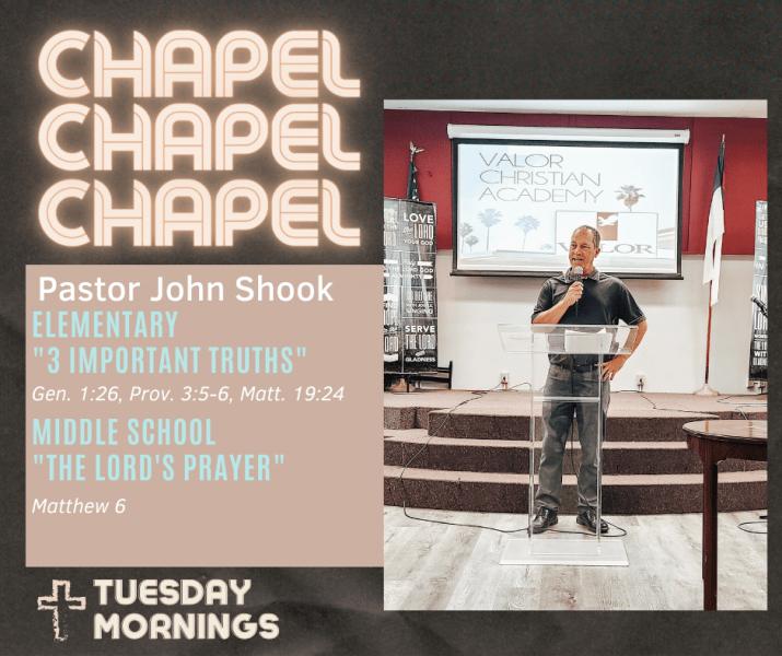 Chapel Speaker John Shook