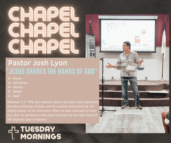 Chapel Speaker Josh Lyon