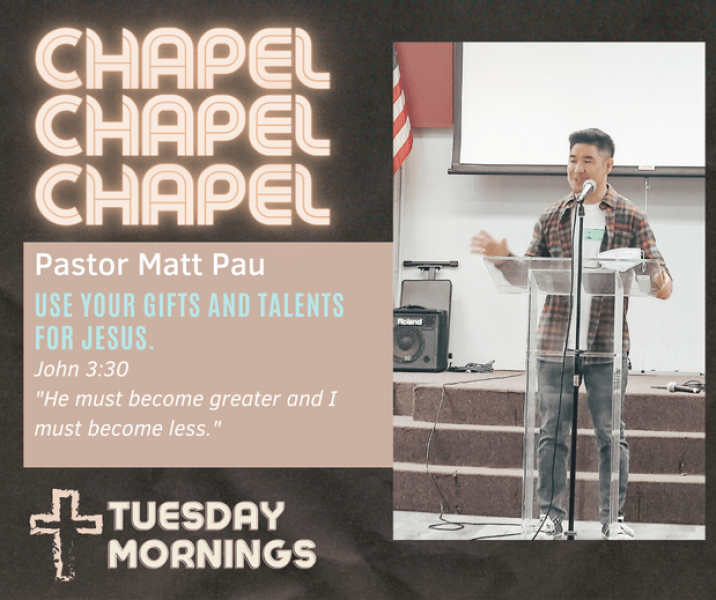 Chapel speaker Matt Pau